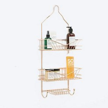 Three-Tier Shower Caddy in Rose Gold - Urban Outfitters