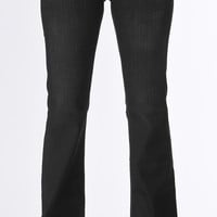 Beaded Black Bootcut Jeans