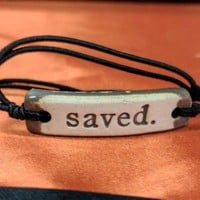 Bracelet by MudLOVE | Saved | Multiple Band Colors | Stretchable Band