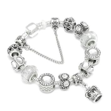 Crown of Moshiach Jewelry Silver Charm Pandora Bracelet