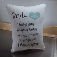 Funny dad pillow gift for daddy throw pillow father cotton decor