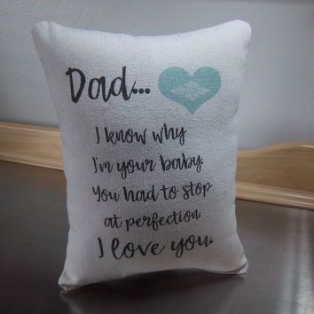 Long distance gift for dad pillow quote pillows father gifts