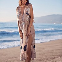 Free People Womens Stuck on You Embellished Maxi