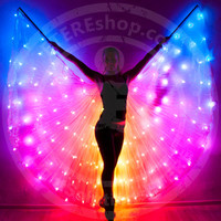 LED light up rainbow isis wings - SMART 164