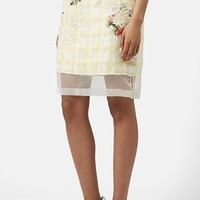 Women's Topshop Flower Check A-Line Skirt (Limited Edition)