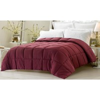 SUPER OVERSIZED-HIGH QUALITY-DOWN ALTERNATIVE COMFORTER- FITS PILLOW TOP BEDS - WINE