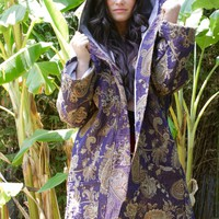 Blue Lotus Hooded Jacket