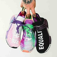 Adidas x Pharrell Williams Hu Holi NMD Rainbow Tie-dye sneakers B-CSXY