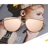 JULI Personalized Cat Eye Sunglasses Women Luxury Brand Designer Oversized Sun Glasses For Women Hot Fashion oculos de sol S1904