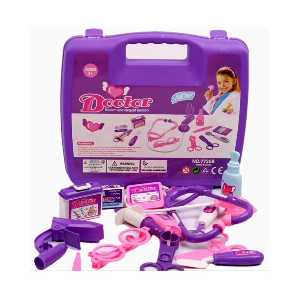 Image of Girl Boy Baby Kids Doctor's Medical Play Set & Carry Case Kit Education Role Play Toy