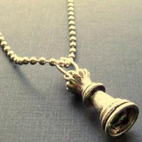Mens stainless steel ball chain necklace with tibetan by lowusu