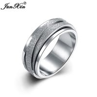 JUNXIN Latest Fashion Men Women Stainless Steel Ring Round Wedding Engagement Rings For Men And Women Birthday Gifts SMT0376