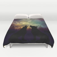 Mid-Winter Moon - Soulmates Duvet Cover by soaring anchor designs ⚓ | Society6