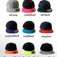 2 Blank Black Snapback Cap.  Made to order quality snap back hats and designs. Official Snap Back hats.