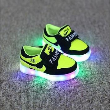 2016 Fashion Shoes Children Light Leds Sport Shoes [8096622087]