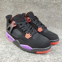 "Women's and Men's NIKE Air Jordan 4 NRG ""Raptors""  Retro Royalty 009"