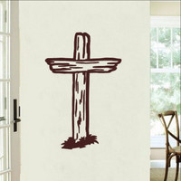 Rugged Cross Christian Vinyl Wall Decal 22287