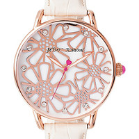 VINTAGE FLORAL ROSE GOLD AND CREAM WATCH ROSE GOLD