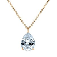 Donnis Pear CZ Rose Gold Pendant – 10mm | 3.5ct