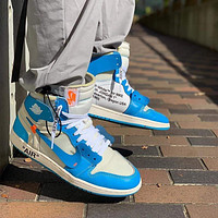 Off-White x Nike Air Jordan 1 High Top OW Sneakers Shoes