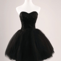Black Straples Homecoming Dress,Sweetheart Beadings Homecoming Dresses