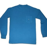 Long Sleeve Pocket Tee - Deep Sea