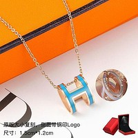 Hermes fashion ladies simple personality ring necklace