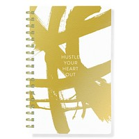 Hustle Your Heart Out Gold Journal in Faux Leather