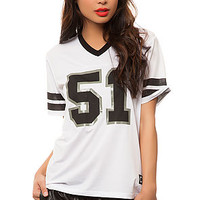 The 5150 Football Jersey in White