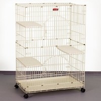 """ProSelect Foldable Cat Cages 48"""" High- Purple"""
