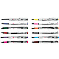 FORAY Marker Style Porous Point Pens With Soft Grips Medium Point 07 mm Silver Barrels Assorted Inks Pack Of 12 by Office Depot & OfficeMax