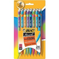 BIC® Mechanical Pencils #2, .9mm, 24/Pack (MPLWP241-BLK) | Staples