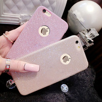 Luxury Ultra Thin Glitter Bling Cover Case For iPhone 7 6 6s Plus 5 5s SE Capa Crystal Soft Phone Cases Covers Protective Fundas