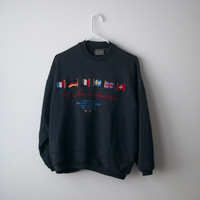International French European Flags Sweater