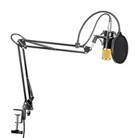 Neewer® NW-800 Professional Studio Broadcasting Recording Condenser Microphone & NW- 35 Adjustable Recording Microphone Suspension Scissor Arm Stand with Shock Mount and Mounting Clamp Kit