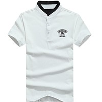 Solid Short Sleeve Men's T-shirts New Arrivals Tops &Tees For Male Clothing