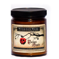 Poison Apple Halloween candle apple scented soy amber jar candle