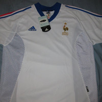 Sale!! Vintage France Away 2002 Soccer Jersey Rare Football Shirt Zidane Free shipping within the USA