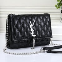 YSL Yves Saint laurent Women Fashion Leather Chain Crossbody Shoulder Bag Satchel