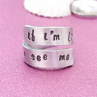 One Direction- if I'm louder would you see me - hand stamped ring