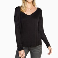 ShopSosie Style : Just Me Top in Black