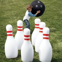 Indoor/Outdoor Giant Inflatable Bowling Game:Amazon:Toys & Games