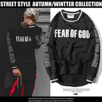 2017 New Fear of God Sweatshirts Men Women 1:1 High Quality Hoody Hip Hop Purpose Tour Thick Autumn Winter Fear of God Hoodies