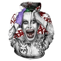 Suicide Squad Joker 3D Hoodie Sweatshirt 2017 Autumn Winter Funny Hooded Hoody Casual Brand Sportswear Tracksuit Men Dropship
