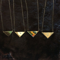 Butterfly Wing Triangle Necklaces