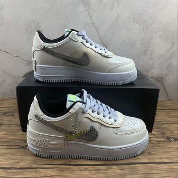 Morechoice Tuhz Nike Air Force 1 Shadow Snakeskin Low Sneakers Casual Skaet Shoes Cv3027-001
