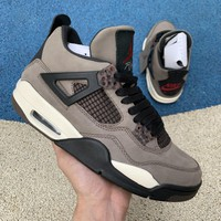 Travis Scott x Air Jordan 4 Olive Suede