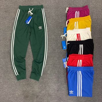 ADIDAS Clover 2018 Spring Summer Couples Men and women Wild Sweatpants F-XMCP-YC green
