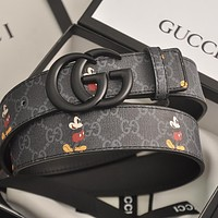 GG men's and women's double G letter buckle smooth buckle belt