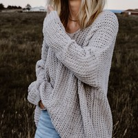 TBW: CATCH ME OUTSIDE SWEATER (SILVER)